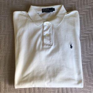 Polo by Ralph Lauren white polo shirt, size L